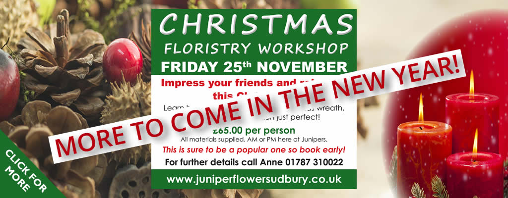 Juniper Flowers Christmas Workshop