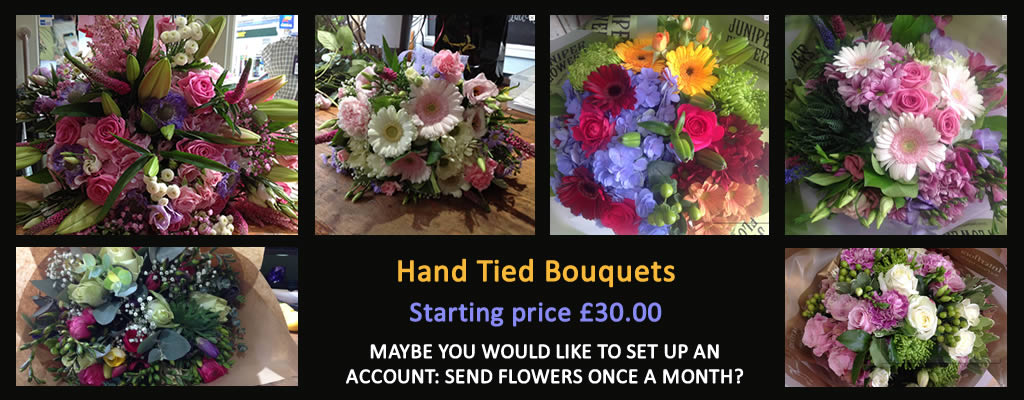Hand-tied bouquets